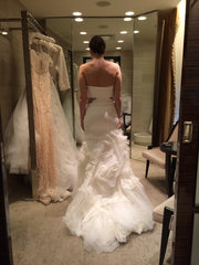 Vera Wang 'Kathleen' size 8 used wedding dress back view on bride
