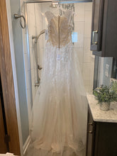 Load image into Gallery viewer, Galina Signature 'Tulle A-Line Wedding Dress with Plunging V-Neck' wedding dress size-10 NEW