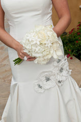 Priscilla of Boston Jewel Structured Trumpet Gown - Priscilla of Boston - Nearly Newlywed Bridal Boutique - 2
