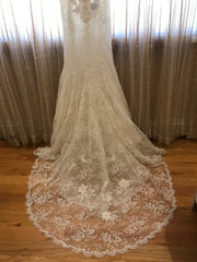 Ines Di Santo 'Madrid' size 6 new wedding dress view of train