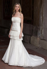 Priscilla of Boston Platinum STYLE PL163 Wedding Dress - Priscilla of Boston - Nearly Newlywed Bridal Boutique - 1