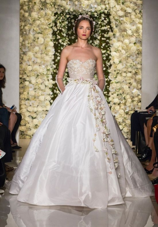 Reem Acra 'I'm Awesome' size 2 used wedding dress front view on model