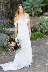 Rue De Seine 'Fox' size 6 used wedding dress front view on bride