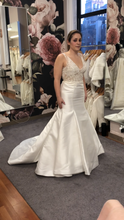 Load image into Gallery viewer, Monique Lhuillier 'BL16212 SLEEK' size 10 sample wedding dress front view on bride