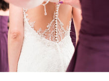 Load image into Gallery viewer, Stella York '6435' size 2 used wedding dress back view close up