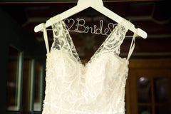 Ines Di Santo 'IDS919' size 12 used wedding dress front view close up