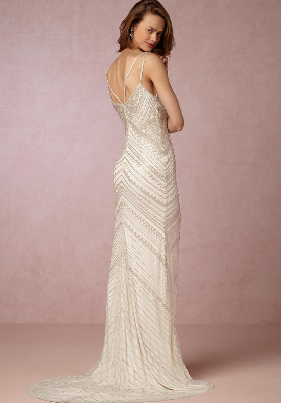 BHLDN 'Theia' size 6 new wedding dress back view on model
