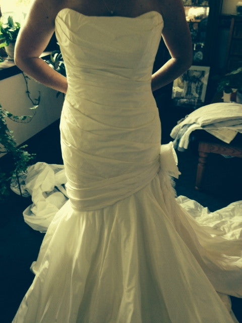Marisa Fit And Flare with Organza Flower - Marisa - Nearly Newlywed Bridal Boutique - 2