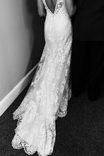 Load image into Gallery viewer, Sottero and Midgley 'Winifred' size 8 used wedding dress back view on bride