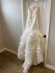 Maggie Sottero 'Primrose' size 4 used wedding dress back view on hanger