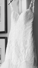 Essence of Australia 'Beaded Strapless' size 10 used wedding dress front view close up