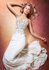 Hayley Paige 'Eddy' size 16 new wedding dress front view on model