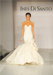 Ines Di Santo 'Turquoise' size 4 used wedding dress front view on model