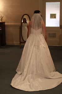 Allure Bridals '8802' size 8 used wedding dress back view on bride