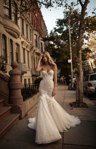 Berta '17' size 6 used wedding dress front view on model