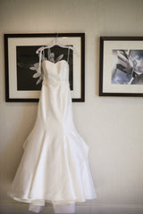 Kirstie Kelly 'Vienna' size 2 used wedding dress front view on hanger