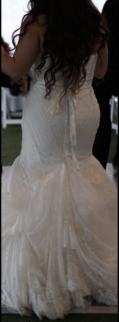 zac posen 'TRULY' wedding dress size-08 PREOWNED