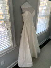 Load image into Gallery viewer, Amsale 'Rowan Silk Faille' size 10 used wedding dress side view on hanger