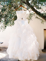 Paloma Blanca Classics Strapless Wedding Dress - Paloma Blanca - Nearly Newlywed Bridal Boutique - 2