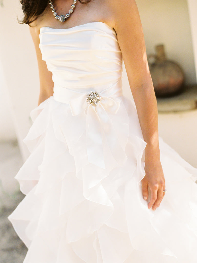 Paloma Blanca Classics Strapless Wedding Dress - Paloma Blanca - Nearly Newlywed Bridal Boutique - 1