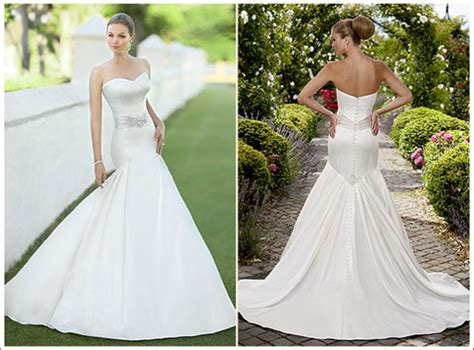 Essence of Australia '1098' size 4 used wedding dress front/back views on model