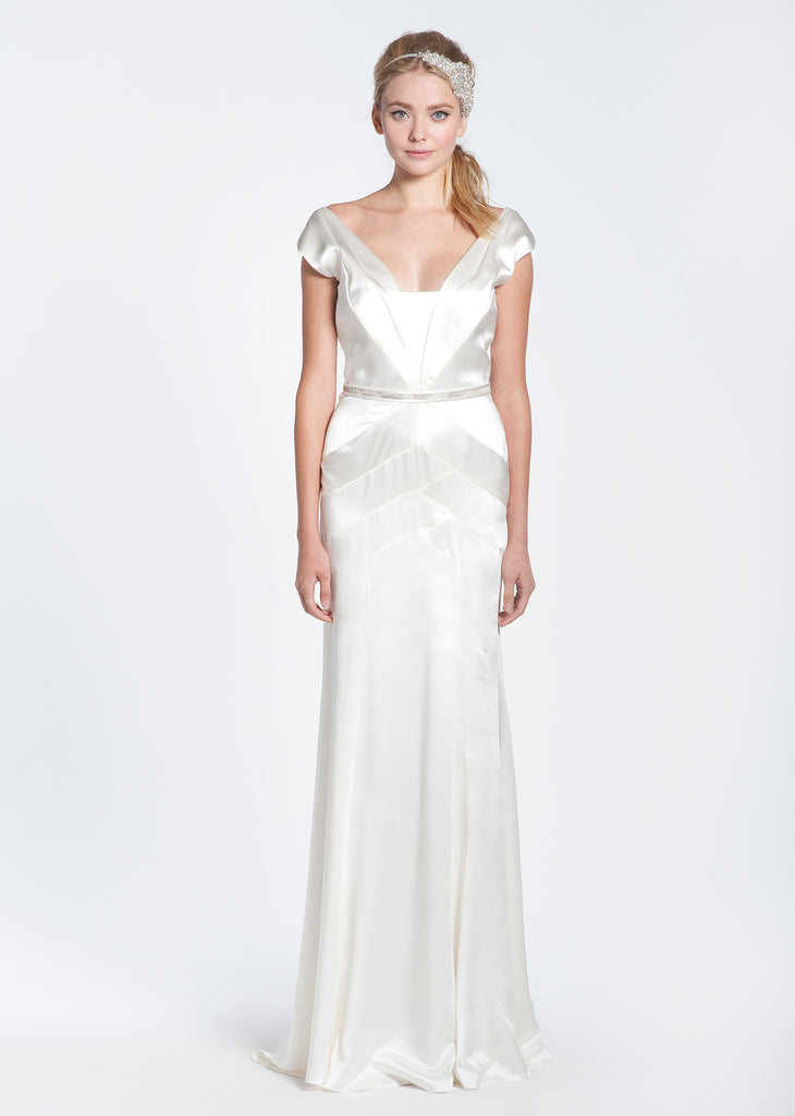 Bibhu Mohapatra 'Deco' Silk Wedding Dress - Bibhu Mohapatru - Nearly Newlywed Bridal Boutique - 3