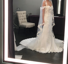 Load image into Gallery viewer, St. Patrick 'Zali' size 2 new wedding dress side view on bride