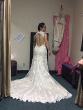 Load image into Gallery viewer, Sophia Tolli 'Robin' size 12 used wedding dress back view on bride