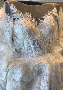 Gemy Maalouf 'Lace and Tulle Ball Gown' size 2 new wedding dress close up