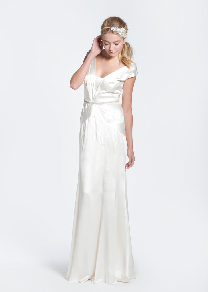 Bibhu Mohapatra 'Deco' Silk Wedding Dress - Bibhu Mohapatru - Nearly Newlywed Bridal Boutique - 1