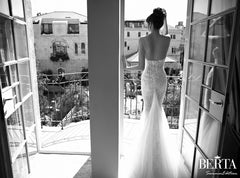 Berta '14-32' size 4 used wedding dress back view on bride