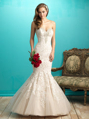 Allure Bridals '9266' size 14 used wedding dress front view on model
