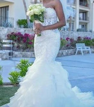 Load image into Gallery viewer, ALP '8177 Muse' size 8 used wedding dress front view on bride