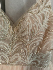 Maggie Sottero 'Charlene' size 6 used wedding dress front view close up