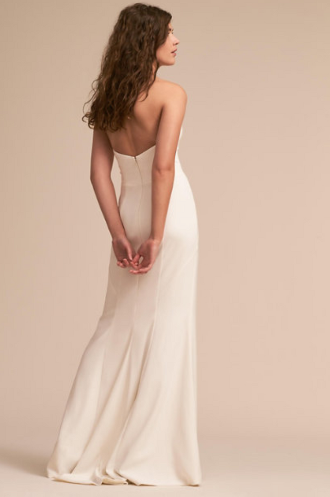 BHLDN 'Paige' size 6 new wedding dress back view on model