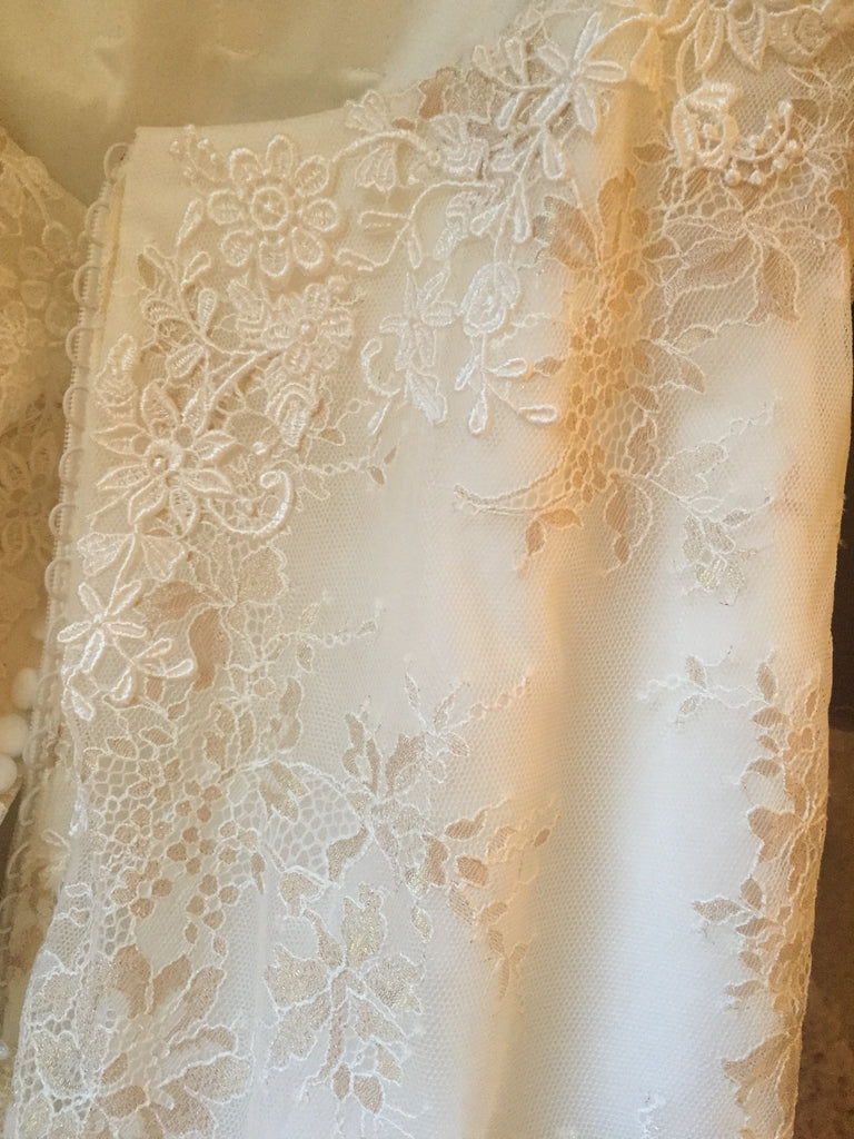 Madison James '105' size 10 sample wedding dress view of material