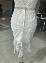 Load image into Gallery viewer, NettaBenShabu 'Custom' size 4 used wedding dress back view on mannequin