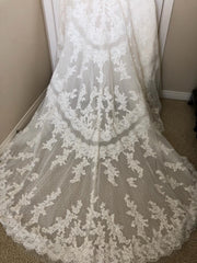 Pronovias 'Barcelona' size 6 used wedding dress back view of train