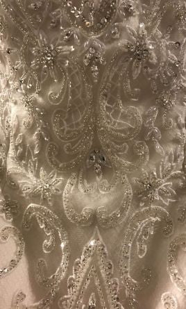 Jasmine Couture  '162061' size 6 new wedding dress view of material
