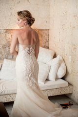 Ines Di Santo 'Elisavet' size 2 used wedding dress back view on bride