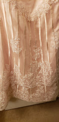 Custom 'Column Lace' size 16 new wedding dress view of fabric