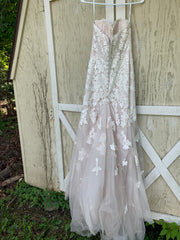 Essence Of Australia 'Moscato 6257' size 6 used wedding dress back view on hanger