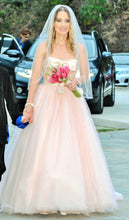 Load image into Gallery viewer, White by Vera Wang 'Blush and Gold Ballgown'