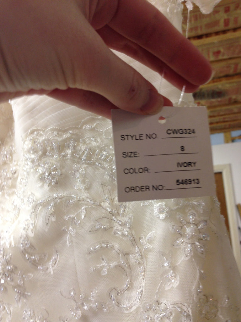 Oleg Cassini 'CWG324' - Oleg Cassini - Nearly Newlywed Bridal Boutique - 3
