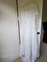 Miss Philippines 'Padme Queen Amidala' size 2 used wedding dress front view on hanger