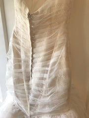 Essence of Australia '1541' size 2 used wedding dress back view on hanger