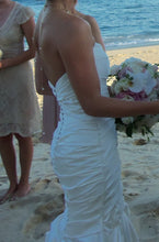 Load image into Gallery viewer, Valena Valentina 'Custom' size 2 used wedding dress side view on bride