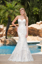 Load image into Gallery viewer, Kitty Chen 'Greta' size 10 new wedding dress front view on model