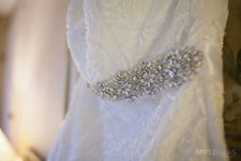 Load image into Gallery viewer, David's Bridal 'Lace Overlay Charmeuse'
