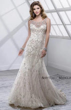 Load image into Gallery viewer, Maggie Sottero 'Sonata' size 4 used wedding dress front view on model